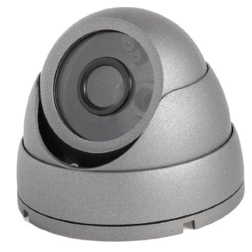sourcingmap® grigio lega alloggiante custodia incluso per interno sorveglianza CCTV cupola Camera