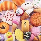 15pcs Mini Soft Squishy Bread Toys Squeeze Keyring Kids Girls Gift by LMMVP