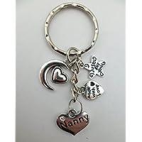LOVE HEART KEYRING Nanny Gem Charm Pendant