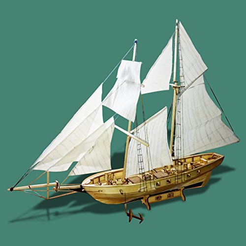 Zantec Montage Bausätze Schiff Modell Holz Segelboot Spielzeug Harvey Segeln Modell montiert Holz Kit DIY