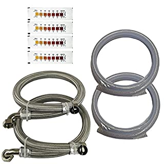 "Water2buy Installation Kit Stainless Steel Braided Hoses 3/4"" (22mm) >Drain & Overflow Kit > Water Hardness Test Strip"
