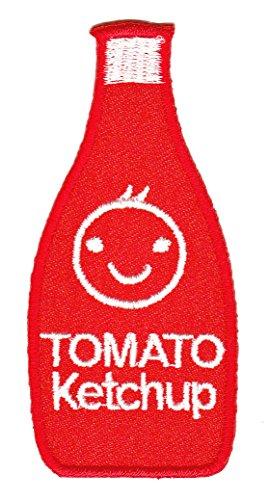 Tomaten Ketchup Flasche Aufnäher Bügelbild