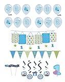Feste Feiern Zum Ersten 1 Geburtstag Junge I 17 Teile Deko Zur Kinder-Party Hellblau Bunt I Alles Gute Kleiner Prinz