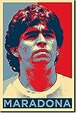 Diego Maradona: Stampa artistica (Parodia di Obama Hope). Poster Fotografico Idea Regalo 30x20cm Cartellone