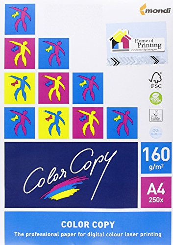Color Copy Laserdruckpapier, 160g/m2, A4, 250 Blatt (Copy Weiß Papier)