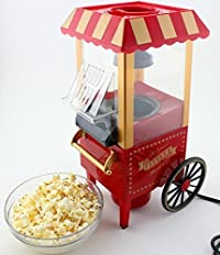 Pramukh Electric Automatic Popcorn Maker Machine Vintage Retro Hot Air Popcorn Popper Machine Mini Size Popcorn Makers Home Party Tools