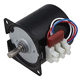 CNBTR A60KTYZ 10RPM AC220V Synchronous Speed Reduction Gear Motor with 7mm Shaft Dia