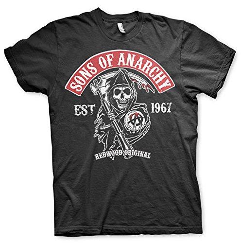 Sons of Anarchy Redwood Original Reaper Official TV Series Mens Black T-Shirt