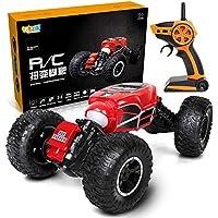 Markc RC inalámbrico Extra Grande 40cm trenzado de coches de doble cara torcido de tracción a las cuatro ruedas que suben de los niños juega el coche grande de control remoto modelo de coche resistent