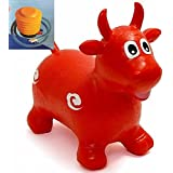 Crazy Animal Bouncer Space Hopper Inflatable Children indoor and Garden Flower/BULL