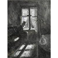 POSTERLOUNGE Cuadro sobre lienzo 60 x 80 cm: Night in Saint-Cloud de Edvard Munch - cuadro terminado, cuadro sobre bastidor, lámina terminada sobre lienzo auténtico, impresión en lienzo