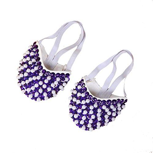 Wgwioo Bauch Ballett Tanzschuhe Kostüm Geschenk Für Big Party Weihnachten Pearl Halbe Fitness Praxis . Deep Purple . (Dance Tap Kostüme Uk)