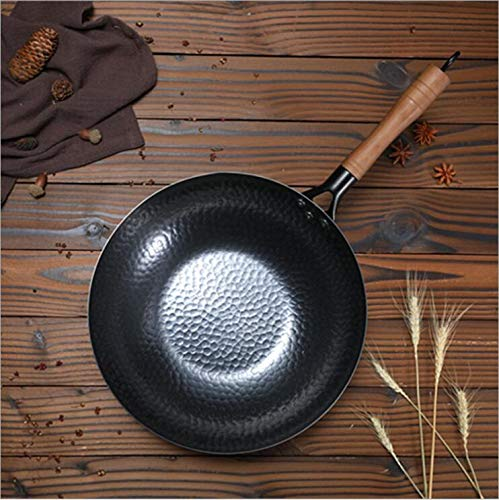 Non-Stick Wok Gourmet Non-Stick Induction Wok without Lid   28cm Stir Fry Pan for Induction Hobs without Toughened Glass Lid and Non-Slip Stay-Cool Silicone Handles Gourmet Non-stick Fry Pan