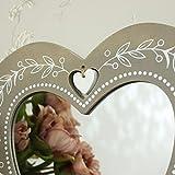 Rstico-de-madera-en-forma-de-corazn-espejo-de-pared