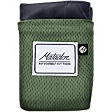 Matador Pocket Blanket 2.0 (Ground Mat) For Picnic, Beach, Hiking, Camping, Festivals - 63 x 44 Inch (Seats 2 to 3) - Waterproof & Puncture Resistant - Easy To Pack - Built-in Ground Stakes (Alpine Green)