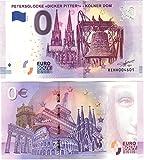 0 Euro Schein Petersglocke - Kölner Dom - Null Euro Souvenier Banknote Köln mit verschiedenen Sehenswürdigkeiten