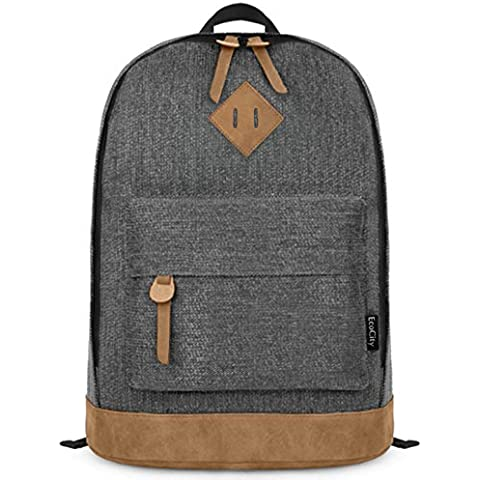 Ecocity Clasico Laptop Backpack Rucksack  Mochila escolar para Portatil
