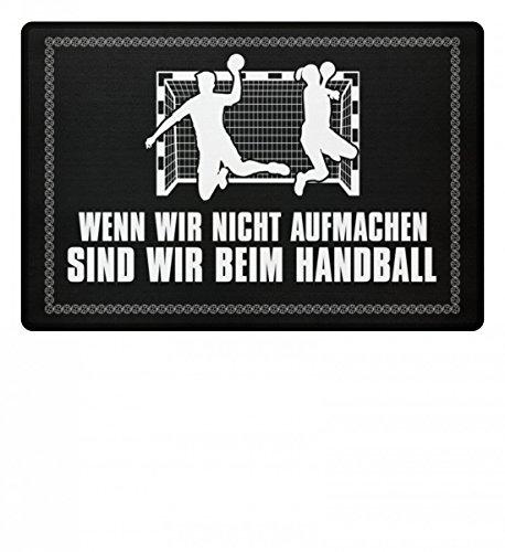 shirt-o-magic Handballfan: .sind wir beim Handball - Fußmatte