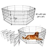 Paneltech 24/30/36/42 inch Puppy Play Pen Rabbit Run Cage Playpen Pluma para mascotas para perros,...
