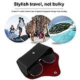 Dailyinshop Durable PU Leder Brillenetui Sonnenbrille Brillen Lagerung Inhaber Box Tasche