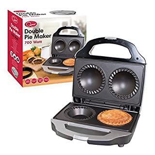 Quest 35970 Twin Double Pie Non Stick Electric Sweet or Savoury Maker with Crimping Edge and Pastry Cutter, 700W, 10 x 23 x 25cm, 700 W