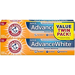 Arm & Hammer Advance White Extreme WhiteningToothpaste,Fresh Mint, 6 Oz, Twin Pack