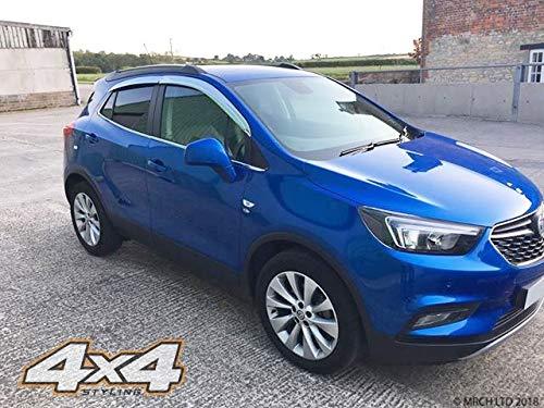 Autoclover Windabweiser-Set für Opel Mokka, Chrom, 4-teilig