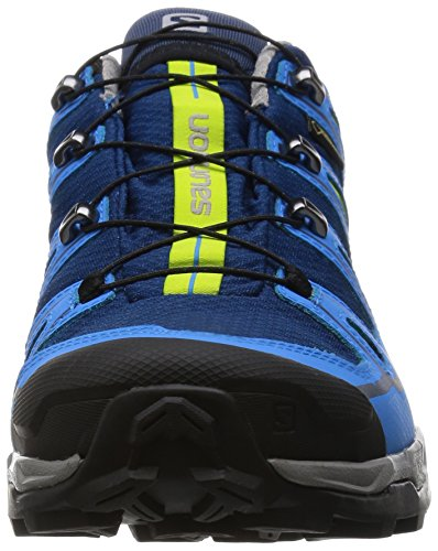 Salomon X Ultra 2 Gtx, Chaussures de Randonnée Basses Homme Bleu (Midnight Blue/Process Blue/Green Glow)