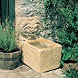 Gartentraum Kleiner Steinguss Wandbrunnen - Lavardin, Ocker