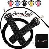 SPOONIE Sports Springseil mit Kugellager, 2 Stahlseile, Tasche & GRATIS E-Book mit Übungen - Jump...