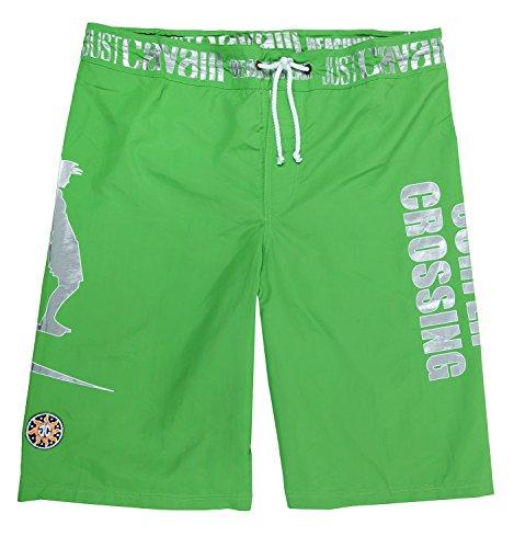 Just Cavalli Beachwear Herren Bermudas Grün A605-36C, size:XL (Cavalli Bademode)
