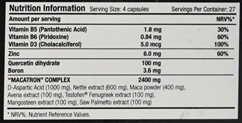 Scitec Nutrition MACATRON Hardcore Testosterone, Estrogen Optimization Support Capsules – 108 Caps