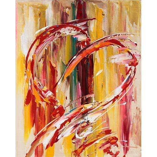 Abstrait coeur, tableau coté de Sylvie ADAOUST - disponible immédiatement:  Amazon.fr: Handmade