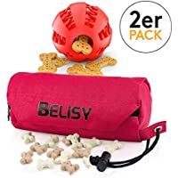 BELISY Intelligentes Hundespielzeug Set I Dentalball (7cm) & Futterdummy