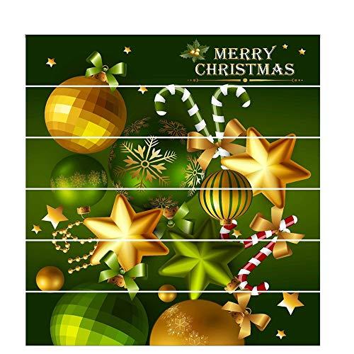 Schneeflocke Glasaufkleber Wasserdichte gedruckte Innenweihnachtstreppe-Wand 6PCS Aufkleber-Dekoration für Weihnachtsjahreszeit Aufkleber Für Weihnachtsdekoration