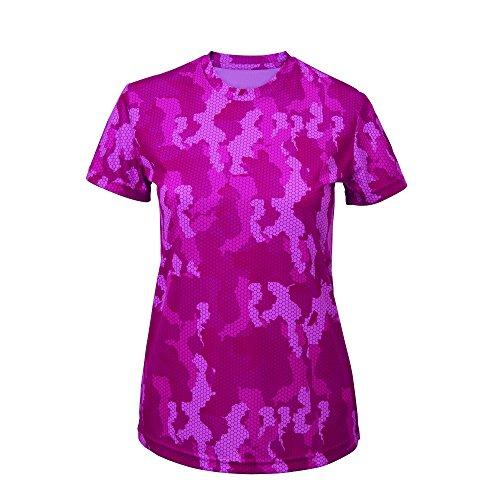 Tri Dri Hexoflage - T-Shirt sport - Femme Saphir camouflage
