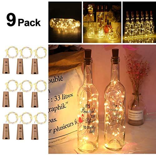 icht, Flaschenlichter Weinflasche Flaschenlicht Kork Flaschen Licht LED Lichter Lichterkette Flaschen DIY- Flaschen Lichter für Hochzeit Party Romantische Deko - [ Warm-weiß] ()