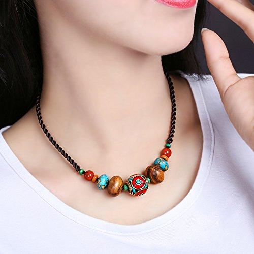 BAGEHAN chinesischen Stil Original Halskette kurze Absatz National Style Geschenk Schmuck Nepal personalisierte Zubehör dekorative Kette Clavings Weiblich, Länge 45 cm