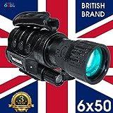 Rongland NV650 PROFESSIONELLES DIGITAL NACHTSICHTGERÄT - 3 JAHRE GARANTIE! UK Brand. Wiederaufladbar. Gen. 1+, Tag- und Nachtbetrieb, Auto-IR, Foto & Video, Videoausgang, 6x50mm - D3+