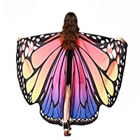 iHENGH Women Butterfly Wings Shawl Scarves Ladies Nymph Pixie Poncho Costume Accessory