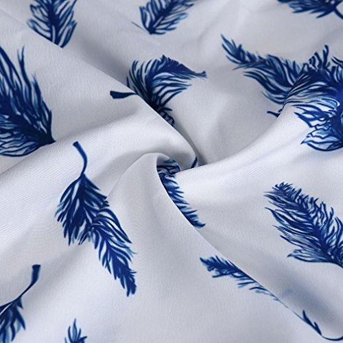 Rcool Frauen-Oberseite beiläufige lose halbe Hülsen-Plume T Shirt Bluse Weiß