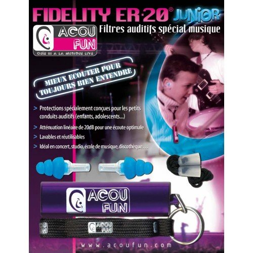 PROTECCION AUDITIVA - ACOUFUN FIDELITY ER20 JUNIOR