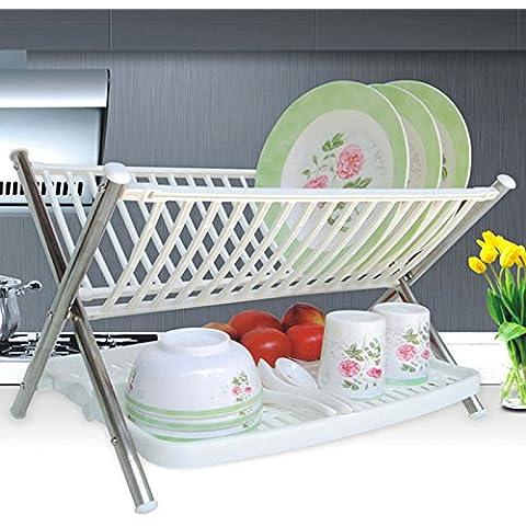 CLG-FLY inox ciotola doppia cremagliera Siu Lek Yuen acqua cucina rack rack in un cestello di lavastoviglie scolapiatti piatto, il ripiano #19 con alta qualità
