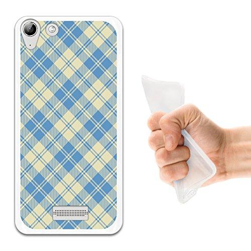 WoowCase Wiko Selfy 4G Hülle, Handyhülle Silikon für [ Wiko Selfy 4G ] Quadratisches Tartan Material Handytasche Handy Cover Case Schutzhülle Flexible TPU - Transparent
