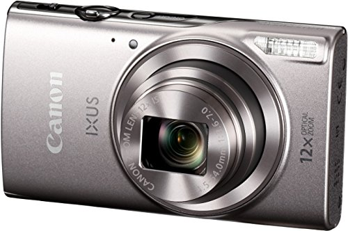Canon IXUS 285 HS Digital Camera (Silver) with 8GB Memory Card and Camera Case