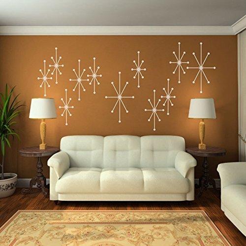 atomic-puntas-vinilo-de-pared-adhesivos-geometrico-starburst-mod-mediados-de-siglo-arte-moderno-nurs