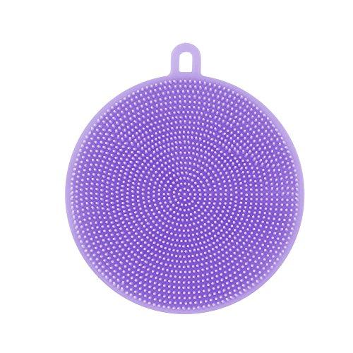 bürste, Spülschwamm Silikon Geschirrspülmittel Schwamm Wäscher Küche Reinigung antibakterielle Werkzeug (Violett) ()