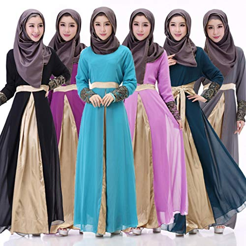 URIBAKY Muslim Kleid-Damen langes Maxi-Kleid,moslemische Kleidung Pakistanische Frauen Kleid Party Wear Kleid Designer Frauen Indian Abaya - 3