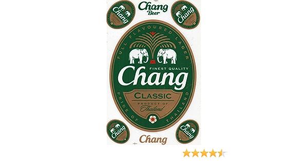 Dd Chang Bier Beer Classic Sticker Aufkleber Folie 1 Blatt 270 Mm X 180 Mm Wetterfest Auto