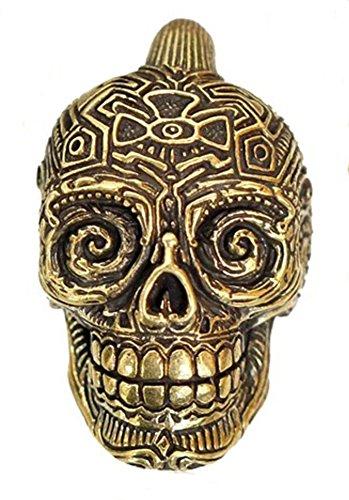 Ohrgewichte Piercing Messing Haken Ohrhänger antik gold 4mm 6mm Calavera Buddha | Lobe Dehner...
